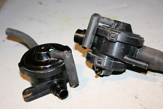 vacuum valves from evaporative charcoal canister on a 2001 Toyota Sienna