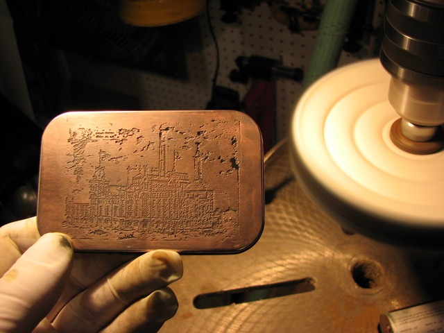polishing copper plated tin