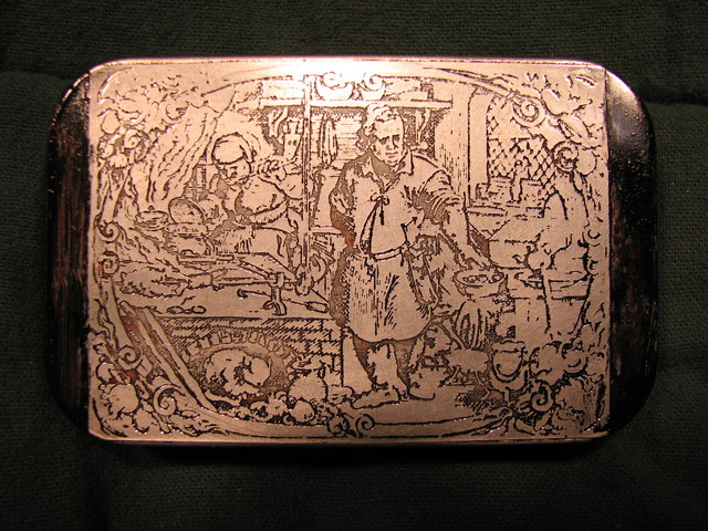 etched kitchen scene