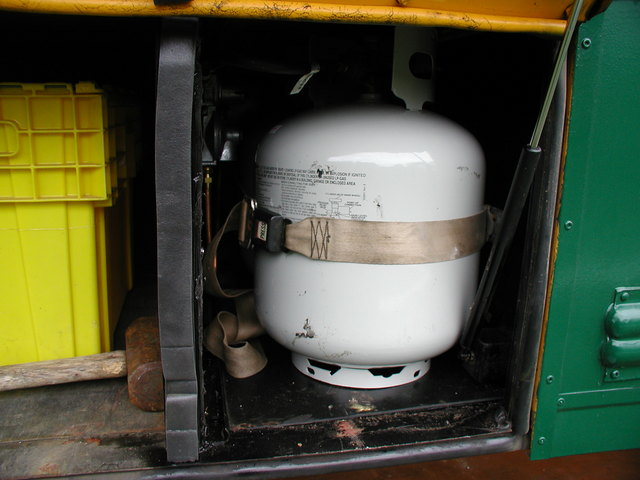 under body propane storage
