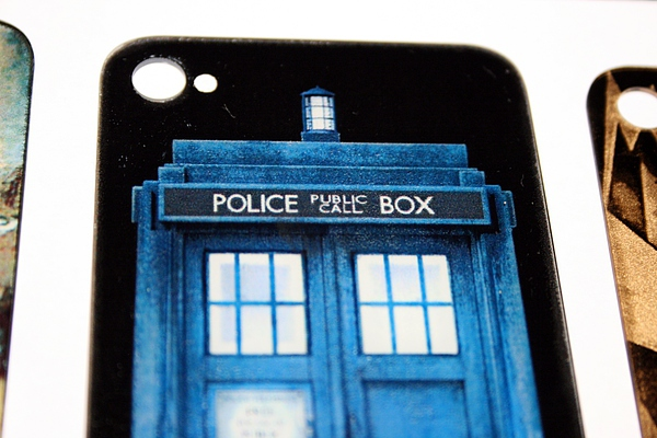 TARDIS iPhoneback glass