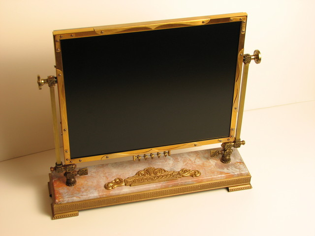 the steampunk monitor