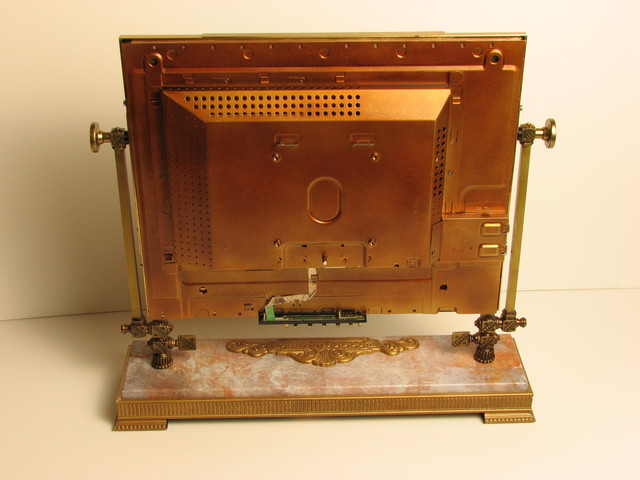 back of the steampunk monitor