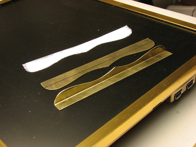 making the brass trim pieces