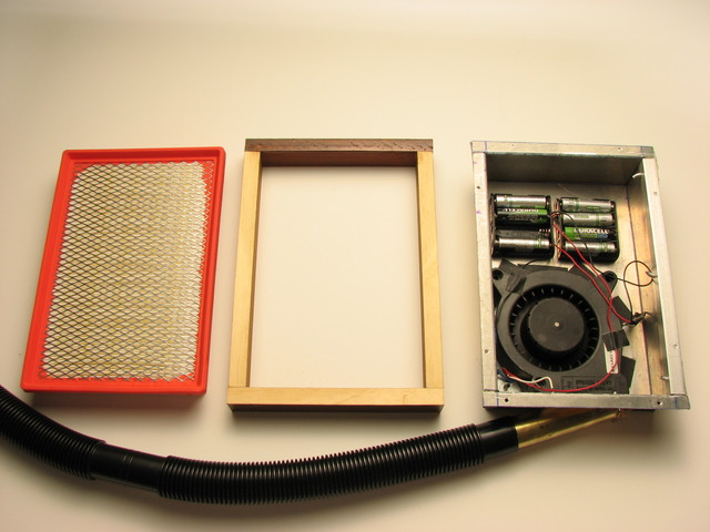 blower box assembly with filter