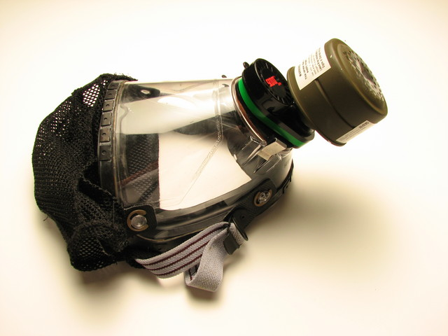 military style tear gas gas mask