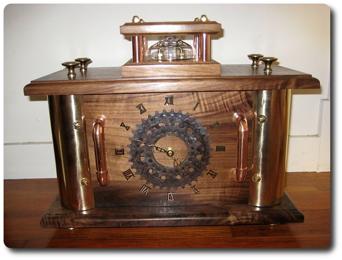 Wedding Gift Clock: Steampunk Clock Wedding Gift