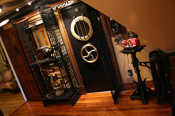 A visit to a steampunked home for Industrial punk design