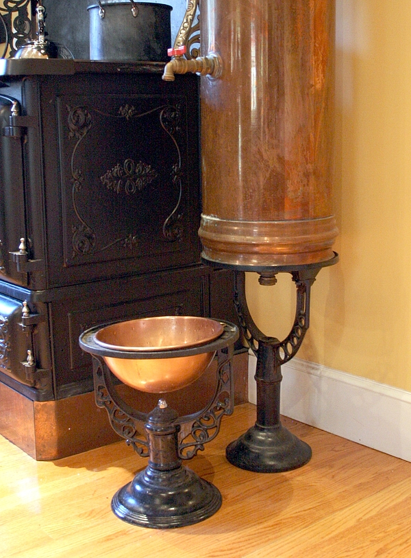A visit to a steampunked home for Copper hot water tank
