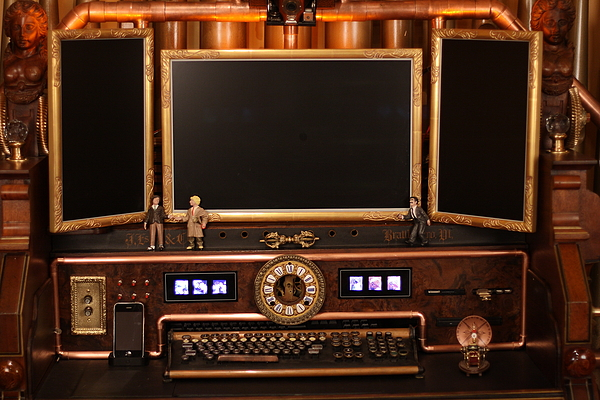 """This is the """"Victorian Organ Command Desk"""" that Bruce commissioned. It ..."""
