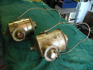 two angle lamps