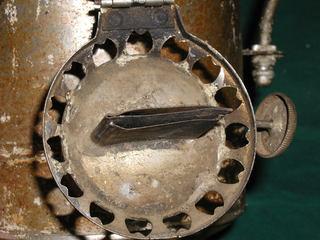 damaged burner