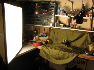 diffuser flash on work bench