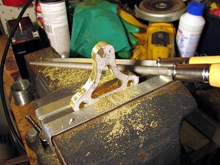 finish filing the brass foor
