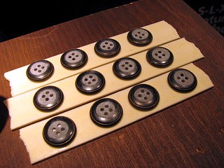 sanding button backs