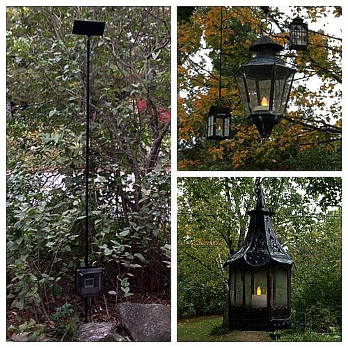 Solar lanterns from the dump.