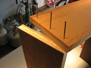 gluing and nailing the box