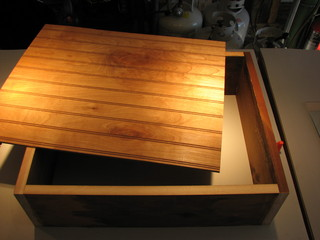 wooden box bottom