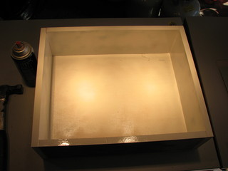 painting the inside of the lightbox