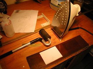 iron toner onto plate