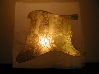 etched fender pickguard
