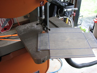 cutting aluminum on bandsaw