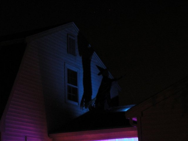 witch on the roof