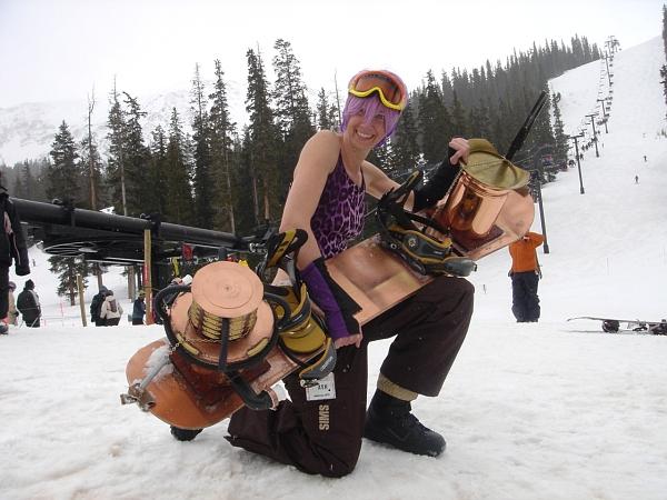 Steampunk snowboard!