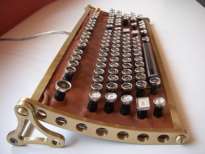 Steampunk Alchemy Keyboard