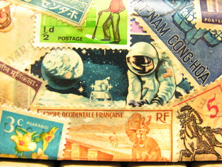 astronaut stamp
