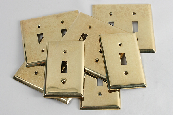 Steampunk Decor - lightswitch plates