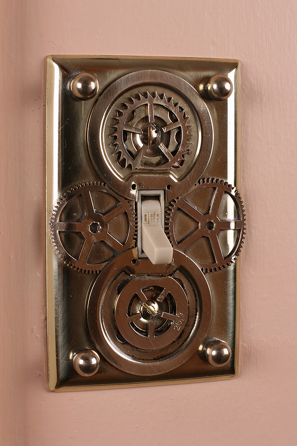 Steampunk home decor light switch plates - Wall switch plates decorative ...