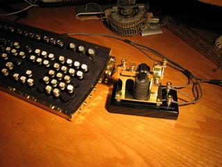 telegraph and steampunk keyboard