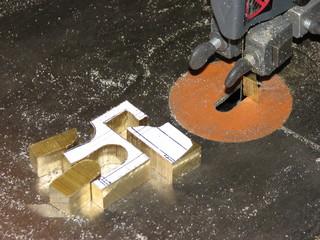 bandsaw brass cutting