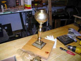 assembled lamp