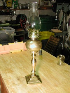 Mae West kerosene lamp, oil lamp