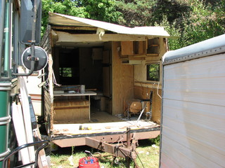 stripping thetravel trailer